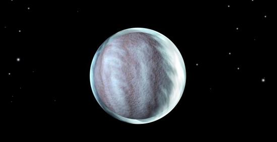 la planète DustnenFeul et son halo de brume